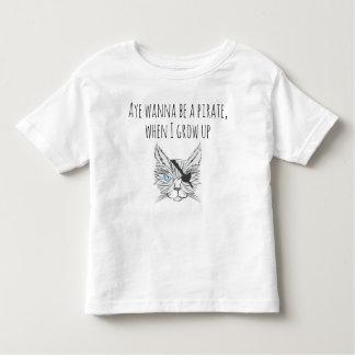 Gato do pirata do desenho t-shirt