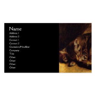 Gato do sono por Renoir Modelo Cartoes De Visita