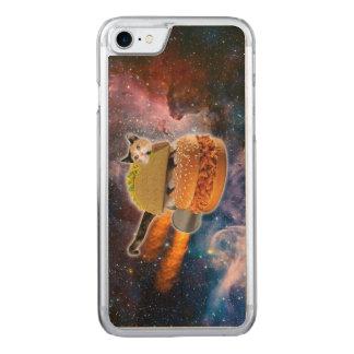 gato do taco e Hamburger do foguete no universo Capa Para iPhone 7 Carved