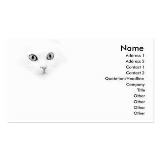 Gato doce do angora cartão de visita