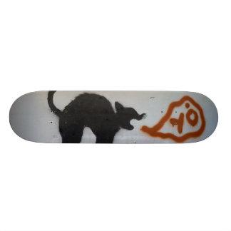 Gato dos grafites shape de skate 21,6cm