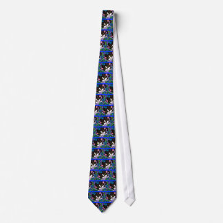 Gato e flores gravata