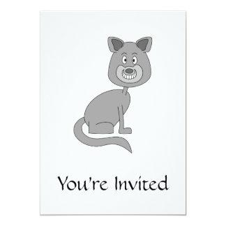 Gato engraçado convite 12.7 x 17.78cm