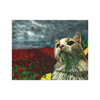 Gato engraçado impressão das canvas da fantasia de
