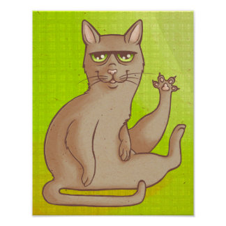 Gato engraçado poster