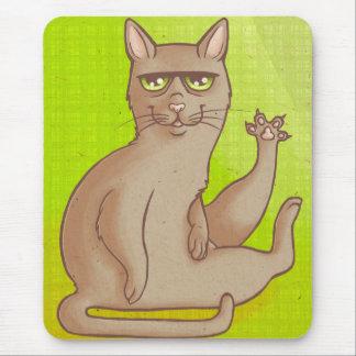 Gato engraçado mouse pad