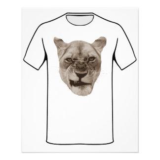 Gato irritado do leão Snarling Modelo De Panfletos