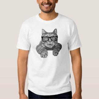 gato louco do geek da senhora do gato camiseta