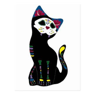 """""""Gato Muerto"""" Diâmetro De Los Muertos Gato Cartão Postal"""