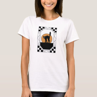 Gato na Lua cheia T-shirts