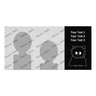 Gato persa preto bonito cartao com foto