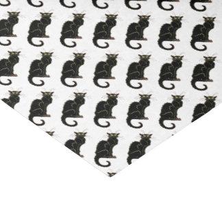 Gato preto de Nouveau da arte francesa - lenço de Papel De Seda
