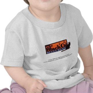 Gato preto do bebê t-shirts