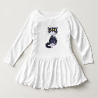 Gato preto e branco camiseta