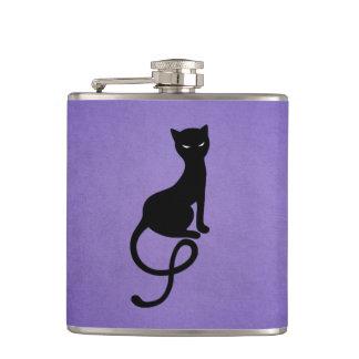 Gato preto mau gracioso roxo cantil