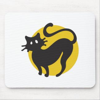 Gato preto mouse pad