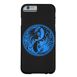 Gatos azuis e pretos de Yin Yang Capa Barely There Para iPhone 6