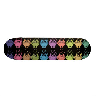 Gatos coloridos skate personalizado