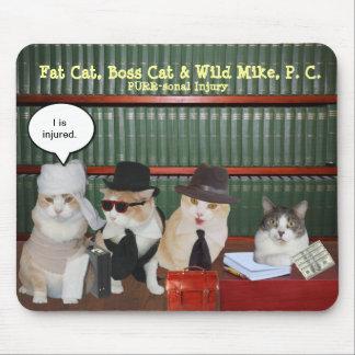 Gatos legais engraçados mouse pad