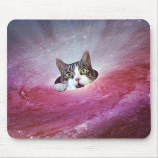 Gatos LOL Mousepad engraçado do espaço da galáxia