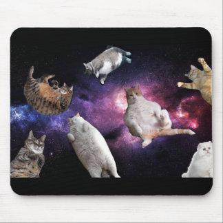 Gatos no tapete do rato do espaço mouse pad