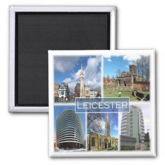 GB * Inglaterra - Leicester Ímã Quadrado