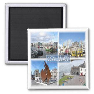 GB * Irlanda do Norte - Galway Ímã Quadrado