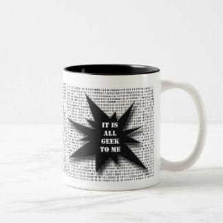 Geek a mim… caneca de café em dois tons