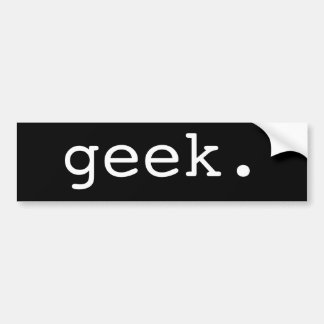 geek. adesivo para carro