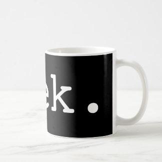 geek. caneca de café