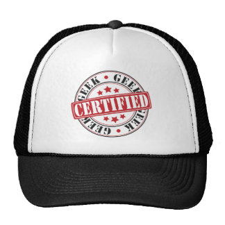 Geek certificado boné