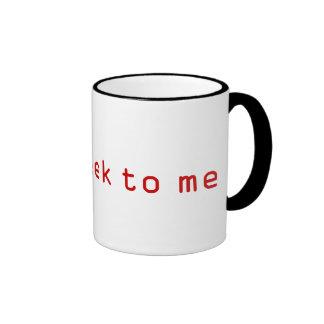 Geek da conversa a mim caneca de café