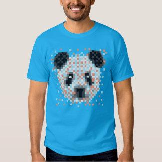 Geek da panda do pixel t-shirts
