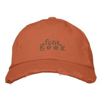 Geek da pia batismal boné bordado