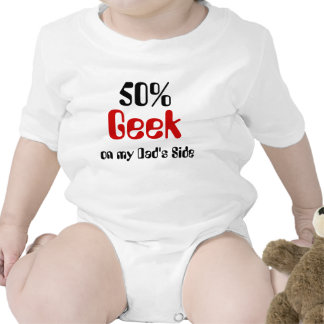 Geek de 50% na camisa lateral do bebê do pai macacãozinho para bebê
