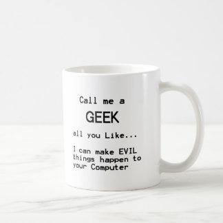 Geek do computador caneca