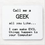 Geek do computador mouse pad