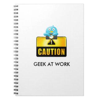 Geek do cuidado no trabalho caderno