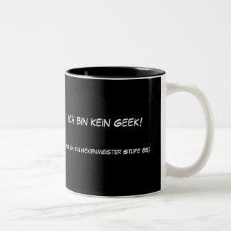 Geek do kein da caixa de Ich! Caneca De Café Em Dois Tons