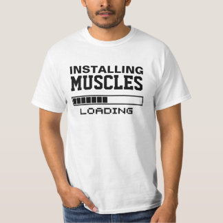 Geek engraçado dos músculos camiseta