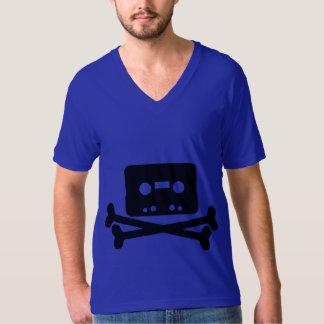 Geek legal do pirata da música da velha escola tshirts