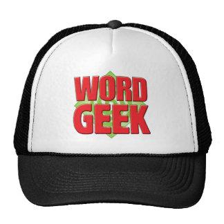 Geek v2 da palavra boné