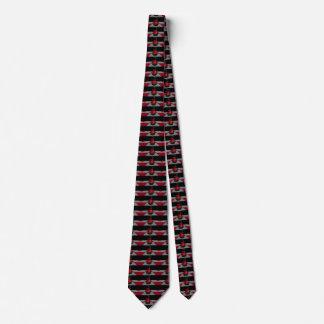 Geeky preto vermelho do cavaleiro da xadrez gravata