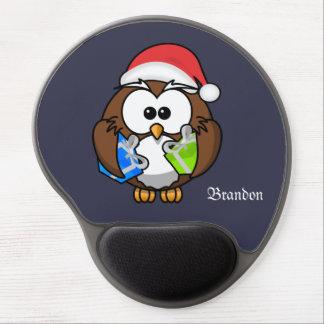 Gel Mousepad da coruja do papai noel dos desenhos Mouse Pad Em Gel