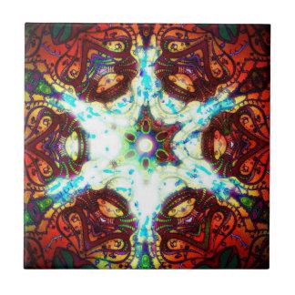 Geléia da meditação azulejo quadrado pequeno