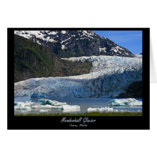 Geleira de Mendenhall/Juneau Alaska Cartão