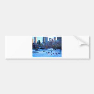 Gelo e inverno do Central Park de New York em Adesivo Para Carro