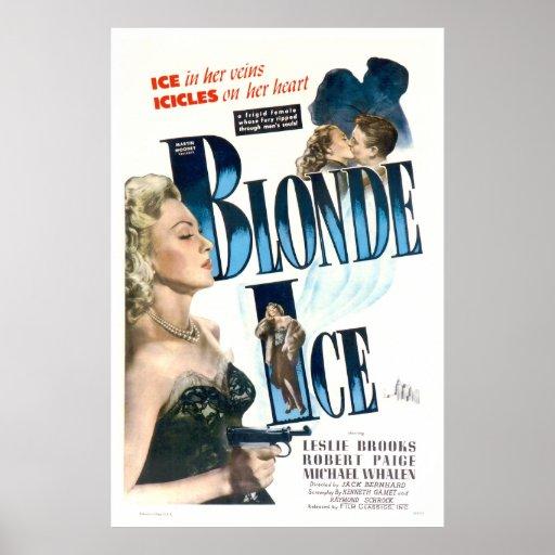 Gelo louro - cartaz cinematográfico 1948 do vintag posteres
