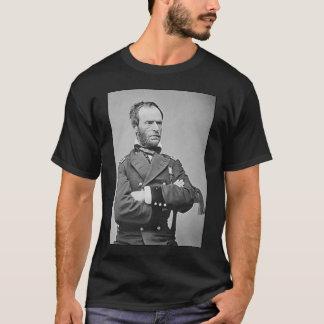 General Sherman e citações - preto Camisetas