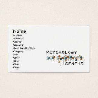 Gênio da psicologia cartão de visitas